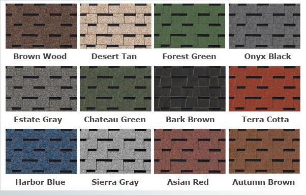 roof shingles color.