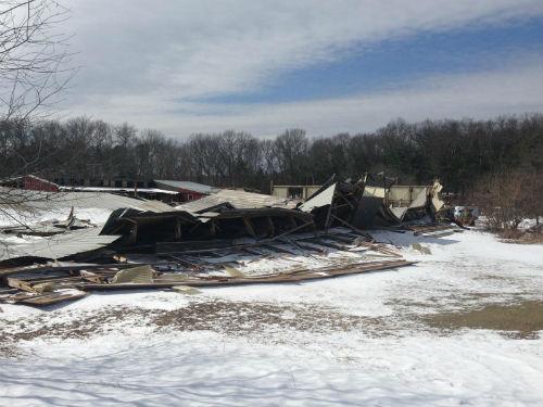 Saddle Row Barn Collapse